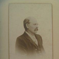 Fotografía antigua: RETRATO DE SEÑOR DEL SIGLO XIX. DE H. RUSSELL, JARROW-ON-TYNE. Lote 172671712