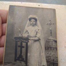 Fotografía antigua: FOTOGRAFÍA NIÑA PRIMERA COMUNIÓN. Lote 172729168
