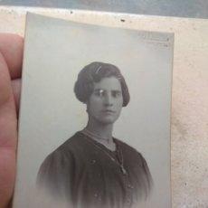 Fotografía antigua: ANTIGUA FOTOGRAFÍA MUJER - AÑO 1927 - LLOPIS - VALENCIA -. Lote 172918758