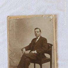 Fotografía antigua: FOTOGAFIA CABALLERO SENTADO, HERMANOS HARO, CARTAGENA. Lote 173367137