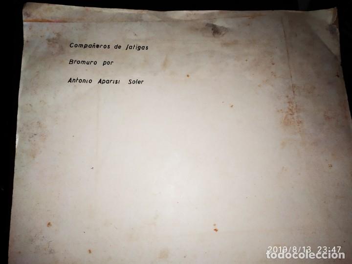 Fotografía antigua: FOTOGRAFÍA BURROS ASNOS ABREVADERO TÍTULO COMPAÑEROS DE FATIGAS BROMURO POR ANTONIO APARISI SOLER - Foto 4 - 173679295