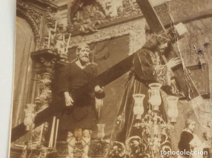 FOTOGRAFÍA DE LA IMAGEN DE JESUS DE NAZARENO DE OCAÑA (TOLEDO) QUE DESAPARECIÓ EN 1936 (Fotografía Antigua - Albúmina)
