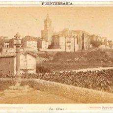 Fotografía antigua: 1870 - 1880 FOTOGRAFÍA ALBÚMINA FUENTERRABÍA HONDARRIBIA (GUIPÚZCOA) FORMATO CABINET. Lote 174531289