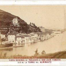 Fotografía antigua: 1870 - 1880 FOTOGRAFÍA ALBÚMINA PASAJES PASAIA (GUIPÚZCOA) FORMATO CDV. Lote 174531983