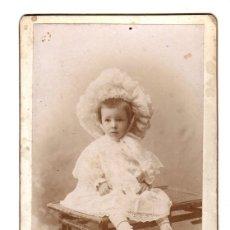Fotografía antigua: FOTOGRAFIA ALBUMINA CON ESCENA INFANTIL. FOTOGRAFIA ARTISTICA ALBERTO MURO. LOGROÑO, LA RIOJA. Lote 175031922