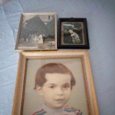 Fotografía antigua: LOTE DE 3 FOTOGRAFÍAS ANTIGUA ENMARCADAS.. Lote 175261980