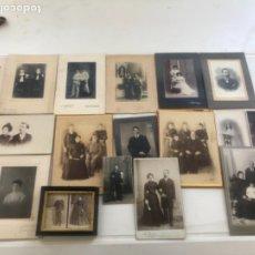 Fotografía antigua: LOTE DE 16 ALBUMINA FINALES DEL SIGLO XIX. VER FOTOS ANEXAS. . Lote 175404257