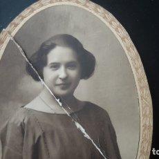 Fotografía antigua: FOTOGRAFÍA DE ESTUDIO DE JOVENCITA EN 1914 (SEVILLA). Lote 175468807