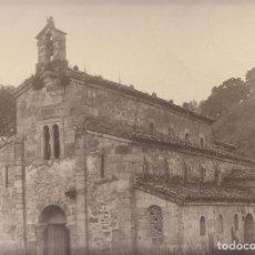 Fotografía antigua: MAGNÍFICA FOTOGRAFÍA. IGLESIA ROMÁNICA DE VALDEDIÓS, VILLAVICIOSA ASTURIAS. ROMÁNICO. 29,5 X 23,5 CM. Lote 175550725