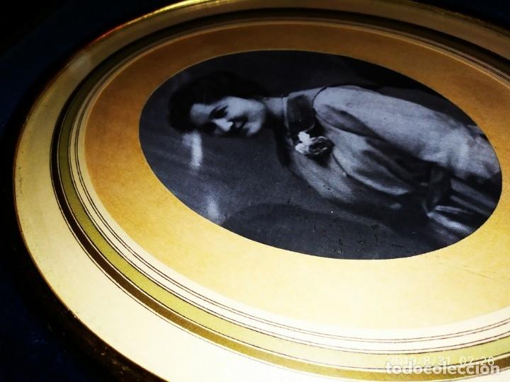 Fotografía antigua: ANTIGUO MILITAR CON SU MUJER ENMARCADOS GRAN MARCO PRECIOSO TERCIOPELO AZUL - Foto 13 - 175639978