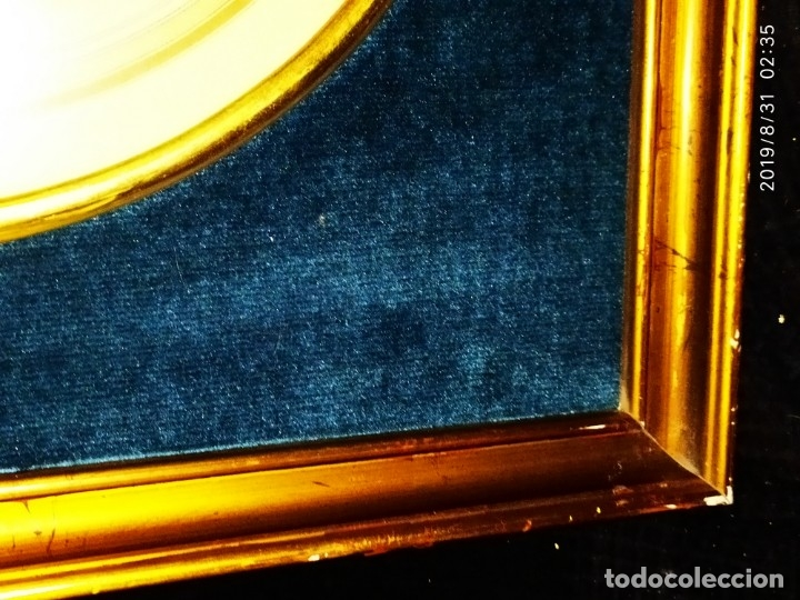 Fotografía antigua: FOTOGRAFÍA ANTIGUA HOMBRE INTELECTUAL MUJER MANTILLA VINTAGE PRECIOSO GRAN MARCO TERCIOPELO AZUL - Foto 5 - 175640017