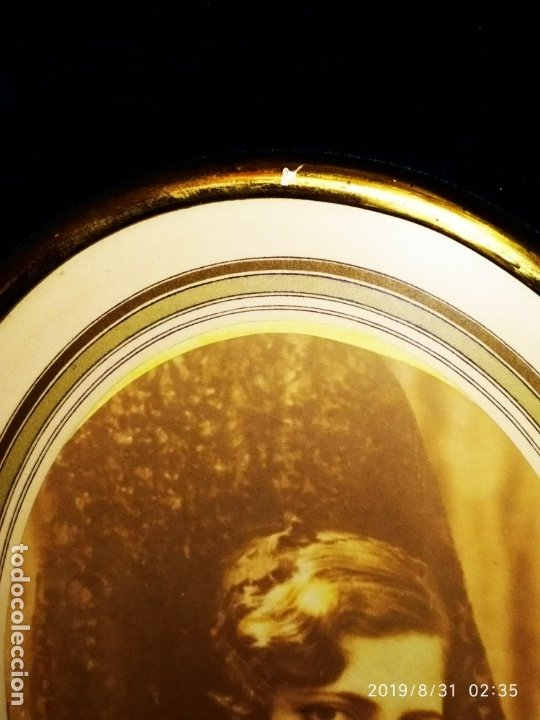Fotografía antigua: FOTOGRAFÍA ANTIGUA HOMBRE INTELECTUAL MUJER MANTILLA VINTAGE PRECIOSO GRAN MARCO TERCIOPELO AZUL - Foto 19 - 175640017
