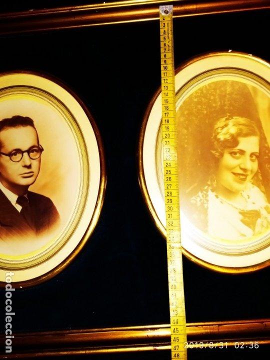 Fotografía antigua: FOTOGRAFÍA ANTIGUA HOMBRE INTELECTUAL MUJER MANTILLA VINTAGE PRECIOSO GRAN MARCO TERCIOPELO AZUL - Foto 20 - 175640017
