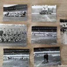 Fotografía antigua: LOTE DE 7 FOTOGRAFÍAS DE FÚTBOL Y UNA DE ELLAS FIRMADA POR JOSÉ JAVIER ZOCO EN PAMPLONA. Lote 175785884