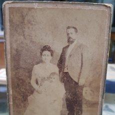Fotografía antigua: ANTIGUA FOTOGRAFIA SRES. DE CASTRO - PALOMINO ARTURO FRANCO MURCIA 1899. Lote 175799894