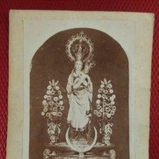 Fotografía antigua: FOTOGRAFÍA NUESTRA SRA. DE LA ALMUDENA. GREMONVER FOTÓGRAFO MADRID. 12 X 8 CM. Lote 175967607