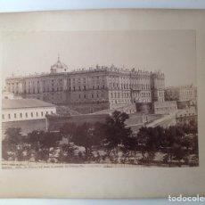 Fotografía antigua: MADRID * CA 1870 * JEAN LAURENT * PALACIO REAL DESDE PRINCIPE PIO + CONCEPCION MURILLO * 34 CM . Lote 176017052
