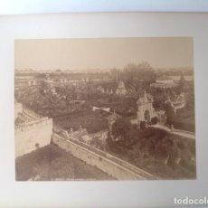 Fotografía antigua: CA. 1870-80´S * SEVILLA * JARDINES DEL ALCAZAR * ALBUMINA * 28 CM. Lote 176017287