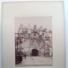 Fotografía antigua: CA. 1870-80´S * BURGOS * ARCO DE SANTA MARIA * ALBUMINA * 23 CM. Lote 176017405