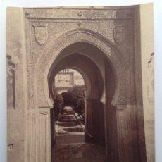 Fotografía antigua: CA. 1870-80´S * CORDOBA * MEZQUITA PUERTA DEL PERDON * ALBUMINA SIN MONTAR * 28 CM. Lote 176017540