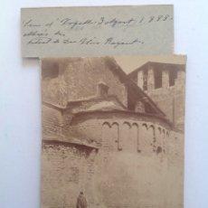 Fotografía antigua: 1888 * SEU D´URGELL * ABSIDE IGLESIA SANT MIQUEL CON ELIAS ROGENT * ALBUMINA . Lote 176017839