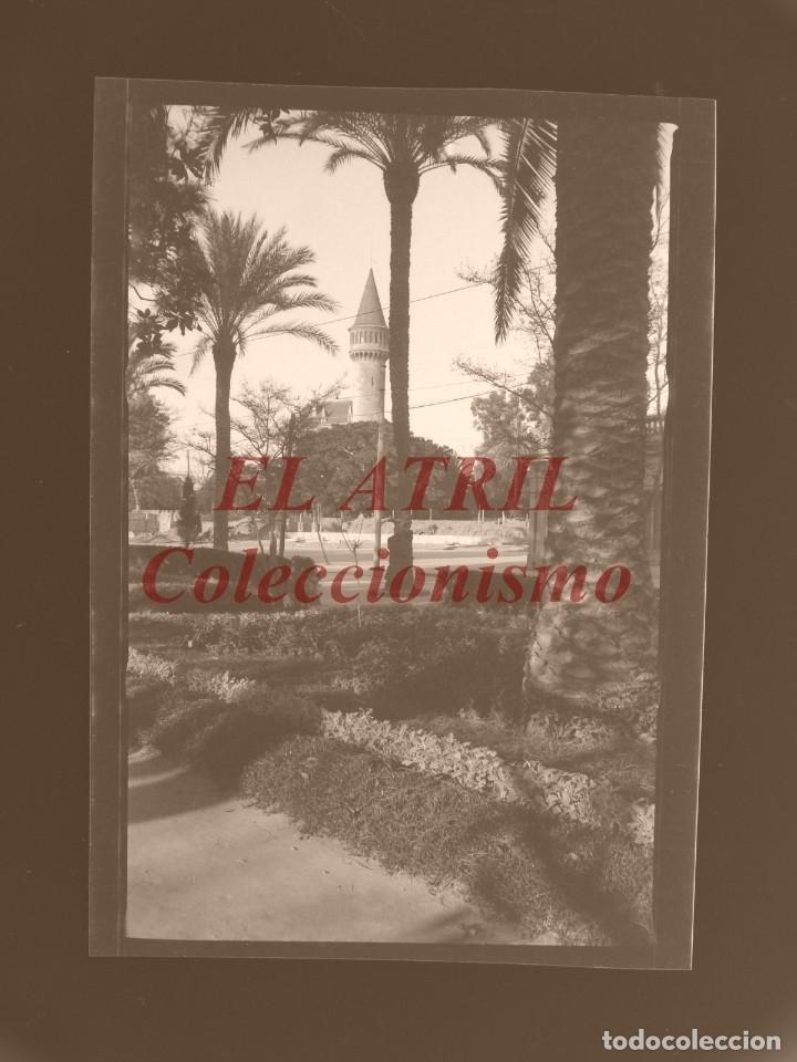VALENCIA - VISTA DEL PALACIO DE RIPALDA - CLICHE NEGATIVO EN CELULOIDE - AÑOS 1930-50 (Fotografía Antigua - Albúmina)