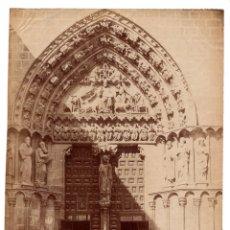 Fotografía antigua: BURGOS.- PUERTA DE LA CATEDRAL. 20X27 CM. Lote 176379677
