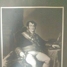 Fotografía antigua: FOTOGRAFÍA DE M. MORENO DEL RETRATO DE FERNANDO VII DEL CUADRO DE VICENTE LÓPEZ PORTAÑA. Lote 176513860