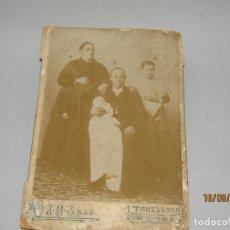 Fotografía antigua: ANTIGUA FOTOGRAFÍA ALBÚMINA FAMILIA DE TOMELLOSO POR J. M. CAÑAS EN DON VÍCTOR 5 DE TOMELLOSO. Lote 176659212