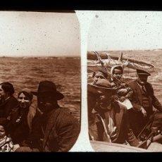 Fotografía antigua: CABO DE PALOS 1928 CRISTAL POSITIVO ESTEREOSCOPICO. Lote 176873074