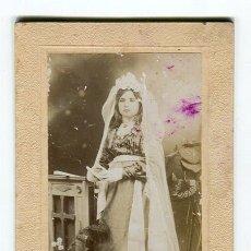 Fotografía antigua: TORTOSA R. ANDREU (DEN CARBO 3) ANTIGUA FOTO DE SEÑORITA MONTADA SOBRE CARTON DURO. Lote 177010134