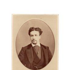 Fotografía antigua: FOTO CABINET - ESTUDIO FOTOGRÁFICO.- J. GUTIERREZ. MADRID.. Lote 177188144
