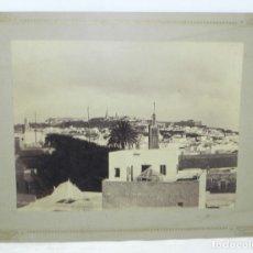 Fotografía antigua: MAGNIFICA FOTOGRAFIA ALBUMINA DE TANGER (MARRUECOS), SIGLO XIX (HACIA 1880). MIDE 27,5 X 21,5 CMS. S. Lote 177384524