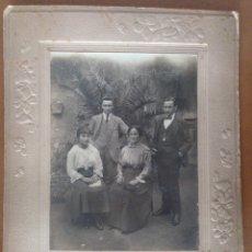 Fotografía antigua: FOTO ESTUDIO DE GRUPO PRINCIPIOS SIGLO XX PROBABLEMENTE ALCAÑIZ. Lote 177393480