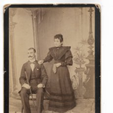 Fotografía antigua: RETRATO DE MATRIMONIO GIRO PESSOLANO FOTÓGRAFO CORRIENTES ARGENTINA 25 X 17 CM, SIGLO XIX. Lote 177504579