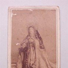 Fotografía antigua: FOTOGRAFÍA ANTIGUA - ALBÚMINA - SANTA TERESA DE JESÚS, OBRA DE GREGORIO FERNÁNDEZ (ÁVILA) . Lote 177517934