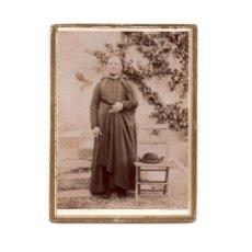 Fotografía antigua: FOTO CABINET.- RELIGIOSA. CURA. SACERDOTE.9 X 12 CM. APROX.. Lote 177569174
