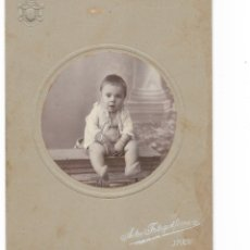 Fotografía antigua: ANTIGUA FOTO - RETRATO NIÑO DE ARTES FOTOGRÁFICAS JAEN.. Lote 177635684
