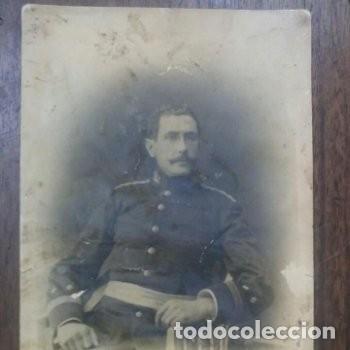 OFICIAL MILITAR ESPAÑOL TENIENTE UNIFORMADO FF.S XIX (Fotografía Antigua - Albúmina)