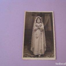 Fotografía antigua: FOTO DE UNA NIÑA. FOTO ARENAS, MALAGA. 13,5X8,5 CM.. Lote 177729052