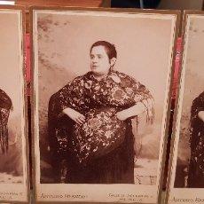 Fotografía antigua: ANTIGUAS FOTOGRAFIAS SERIE MUJERES MANTON DE MANILA ARTURO FRANCO MURCIA. Lote 178007159