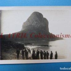 Fotografía antigua: CALPE, ALICANTE - VISTA DEL PEÑON DE IFACH - AÑOS 1930-40. Lote 178086070