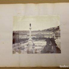 Fotografía antigua: LOTE DE 2 FOTOGRAFIAS ALBUMINA PORTUGAL. PLAZA S. PEDRO Y SINTRA. C. 1880. Lote 178093922