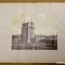 Fotografía antigua: LOTE DE 2 FOTOGRAFIAS ALBUMINA CASTILLO DE BELEN - LISBOA Y ALHAMBRA DE GRANADA. C. 1880. Lote 178094090