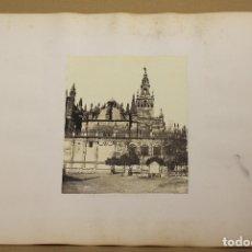 Fotografía antigua: LOTE DE 2 FOTOGRAFIAS ALBUMINA GIRALDA Y ALCAZAR DE SEVILLA. C. 1880. Lote 178094865