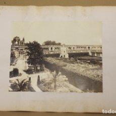 Fotografía antigua: LOTE DE 2 FOTOGRAFIAS ALBUMINA ALCAZAR DE SEVILLA. C. 1880. Lote 178095239