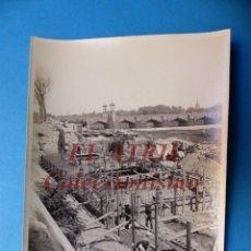Fotografía antigua: VALENCIA - CONSTRUCCION DEL PUENTE DE ARAGON - FOTOGRAFICA - AÑO 1929. Lote 178098064
