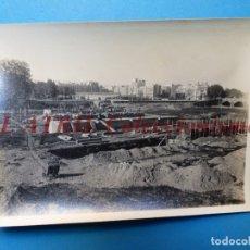 Fotografía antigua: VALENCIA - CONSTRUCCION DEL PUENTE DE ARAGON - FOTOGRAFICA - AÑO 1929. Lote 178098369