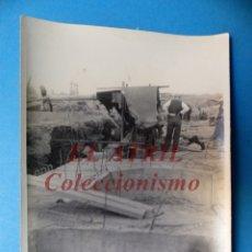 Fotografía antigua: VALENCIA - CONSTRUCCION DEL PUENTE DE ARAGON - FOTOGRAFICA - AÑO 1929. Lote 178098823