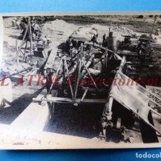 Fotografía antigua: VALENCIA - CONSTRUCCION DEL PUENTE DE ARAGON - FOTOGRAFICA - AÑO 1929. Lote 178098888